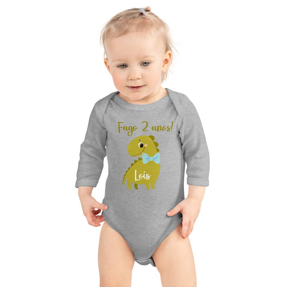 Body manga larga bebé